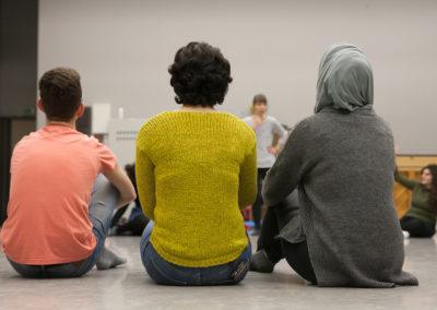 Vom 05.-07.01.2018 wurden die START-Stipendiat/innen von der Deutsche Bank Stiftung an das Mecklenburgische Staatstheater nach Schwerin für einen Workshop eingeladen. © Silke Winkler