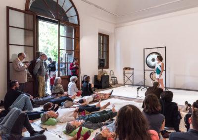 "Performance, Maria Pecchioli, ""The Planetarian Gong Kindergarten"" © Leonardo Morfini, OKNO studios"