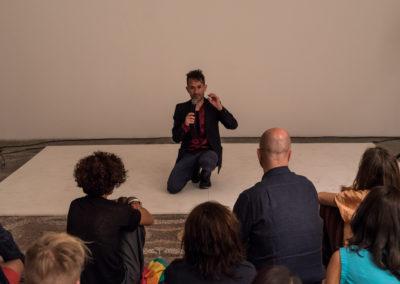 "Performance, Jacob Kirkegaard, ""sound Labyrinthitis"" © Leonardo Morfini, OKNO studios"
