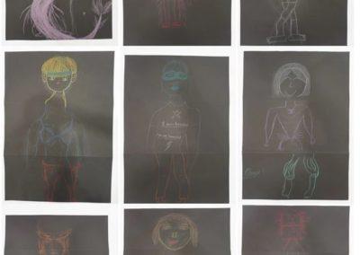 """""""Cadavre Expuis"""", Arbeiten der Intensivklasse Elisabethenschule © KUNSTHALLE SCHIRN FRANKFURT/Elisabethenschule"""