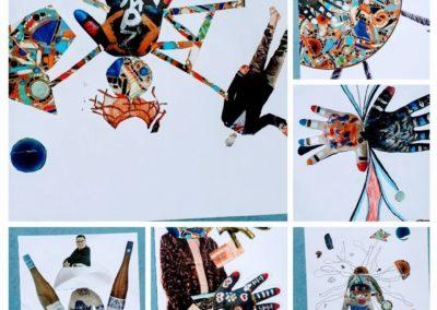 Collagen der Intensivklasse Friedrich-Ebert-Schule © KUNSTHALLE SCHIRN FRANKFURT/Friedrich-Ebert-Schule