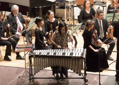 Yu-Ling Chiu am Vibrafon - das Konzert fand in der Aula der Justus-Liebig-Universität Gießen statt © Daniel Regel / Stadttheater Gießen
