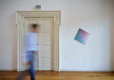 """Arbeit von Jonas Weichsel, """"Flagge II"""", 2018, Acryl auf Leinen © Villa Romana e. V. / Thorsten Schomeier"""