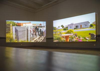 "Arbeit von Nico Joana Weber, ""Capensis"", 2018, HD Video, 2-Kanal, Ton, Farbe, 23:00 © Villa Romana e. V. / Thorsten Schomeier"