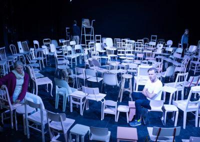 """Die dritte Spielzeit der """"Exzellenzreihe"""" 2019/2020 begann mit der Aufführung von Karen Breece's Drama """"Mütter und Söhne"""" am 20. September 2019. © JR Berliner Ensemble"""