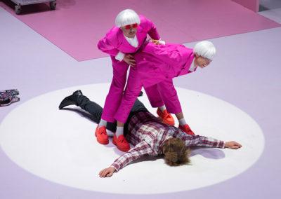 v. l. n. r. Gerrit Jansen, Peter Moltzen, Sina Martens © JR Berliner Ensemble