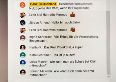 Im Chat wurde rege kommuniziert. © Deutsche Bank Stiftung